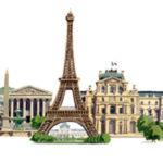 Округа Парижа с достопримечательностями